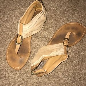 TORY BURCH SUEDE LEATHER THONG SANDALS SIZE 9